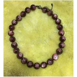 STEINMART DESIGNER BRANDS FOR LESS MAROON FLORAL BEADED CHOKER NECKLACE