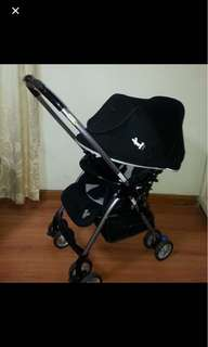 Mickey black stroller