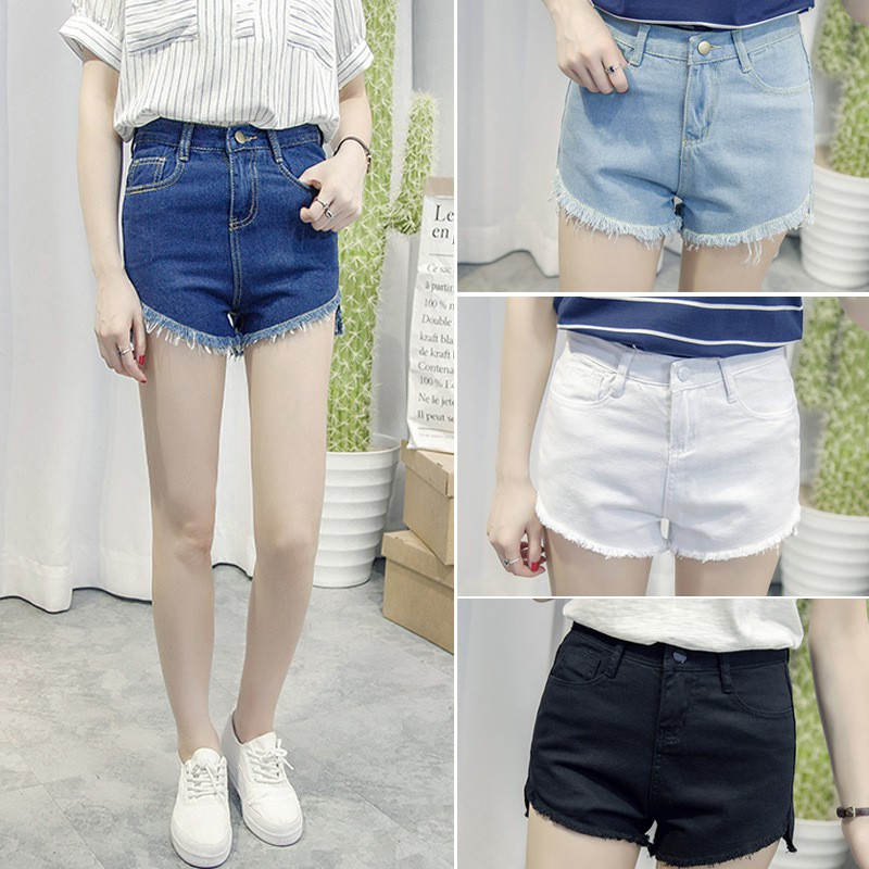 690cd61627c0 2pcs Women Jeans Denim Shorts Casual Summer Sexy Short Pants ...