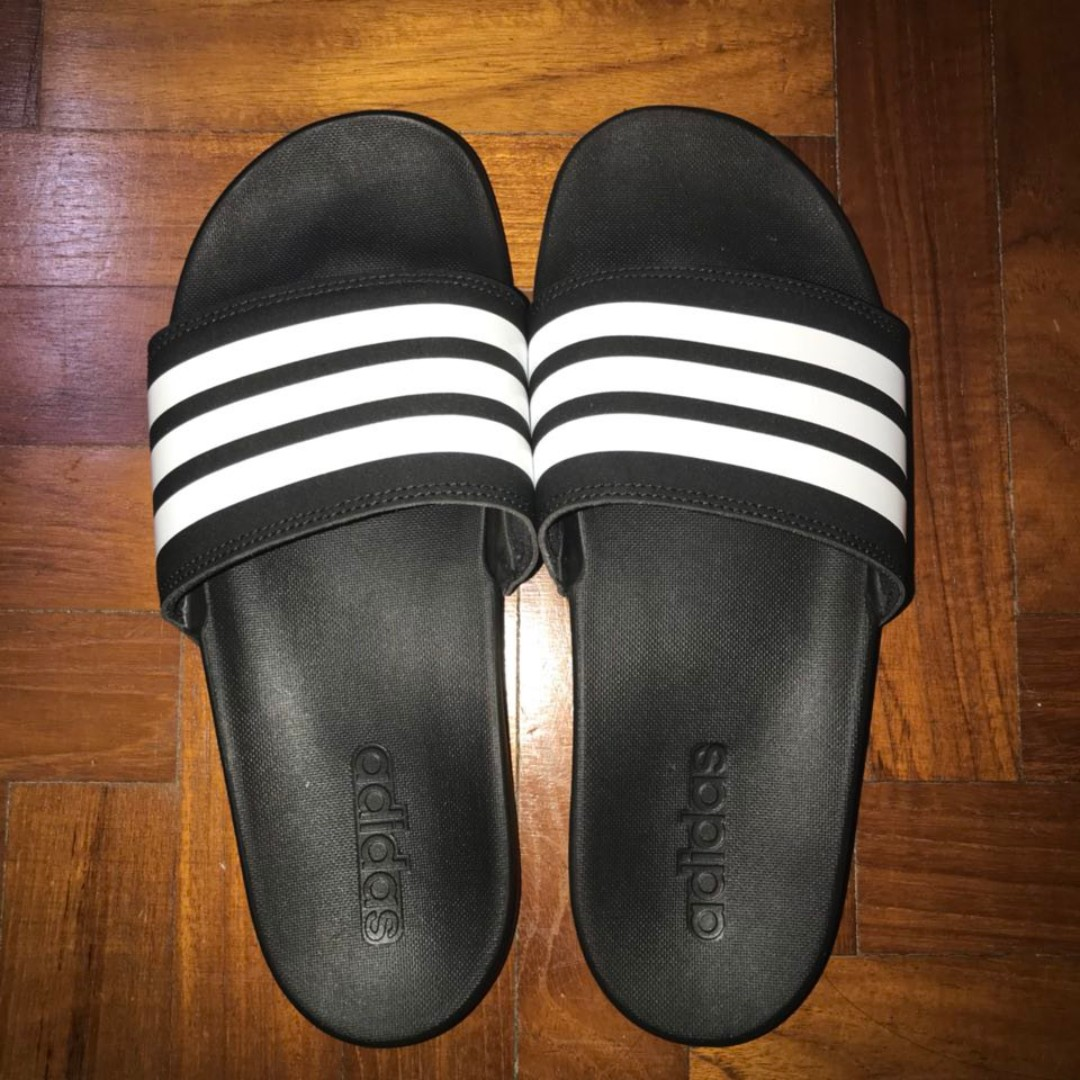 99523afcaadc Adidas Originals Adilette Slides Black and White