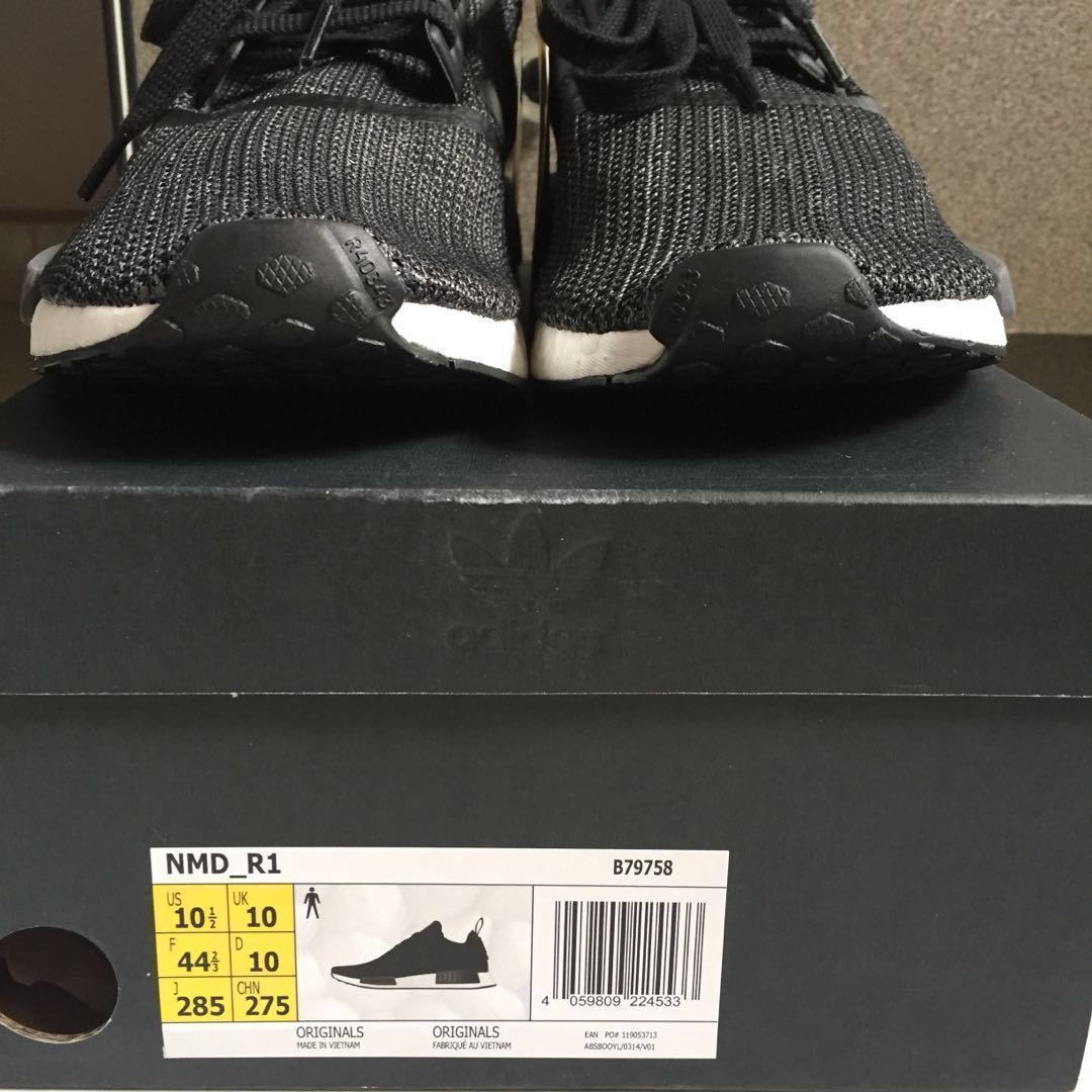 low priced 7a552 64899 Authentic Adidas NMD R1  Carbon Black, Mens Fashion, Footwear, Sneakers  on Carousell