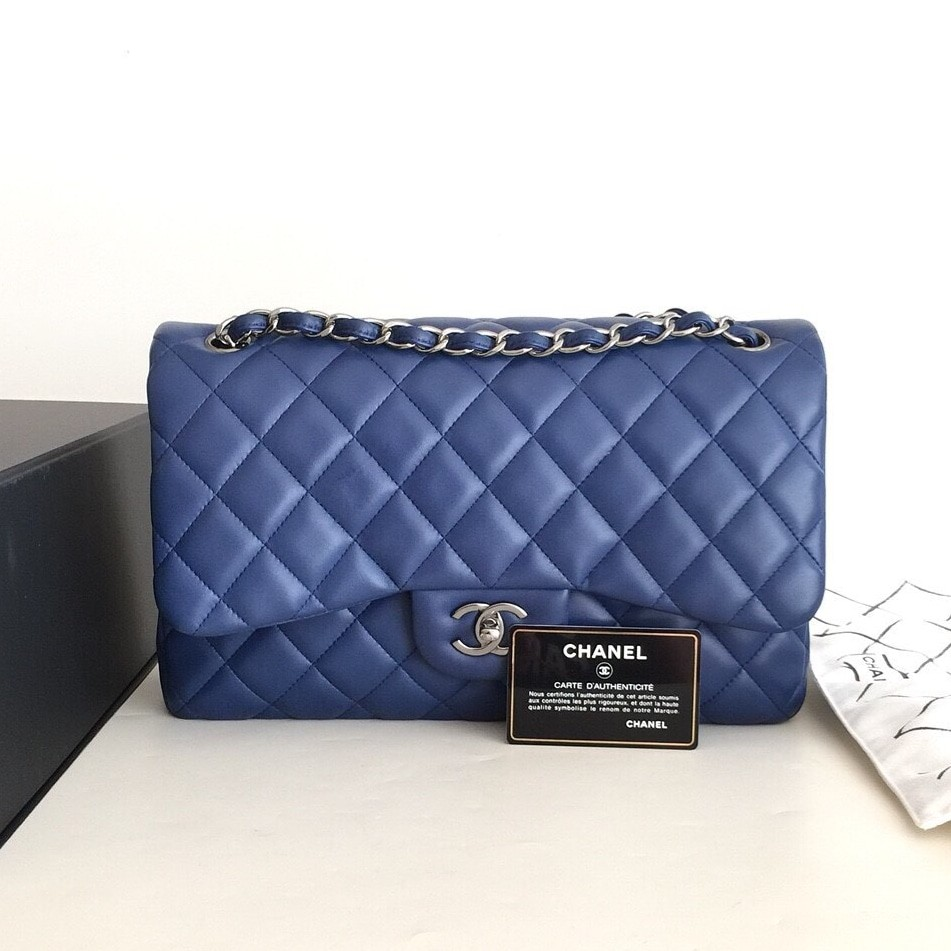 64c4a99ca8ac Authentic Chanel Classic Jumbo Flap Bag