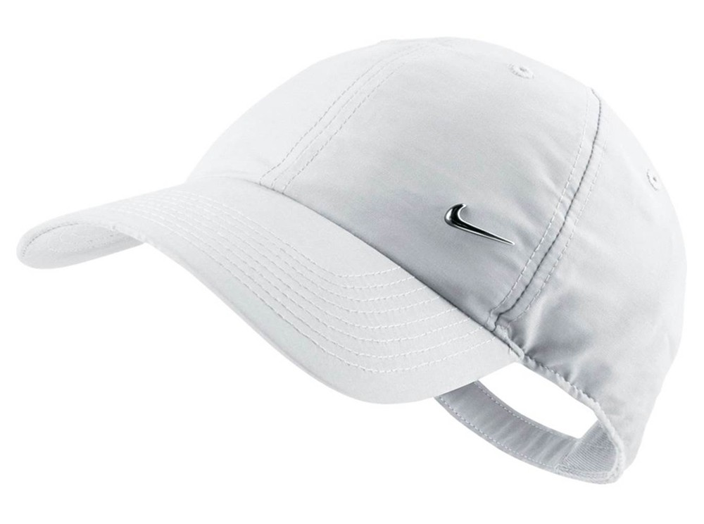 abfec00a47b Authentic Nike Metal Swoosh Cap White