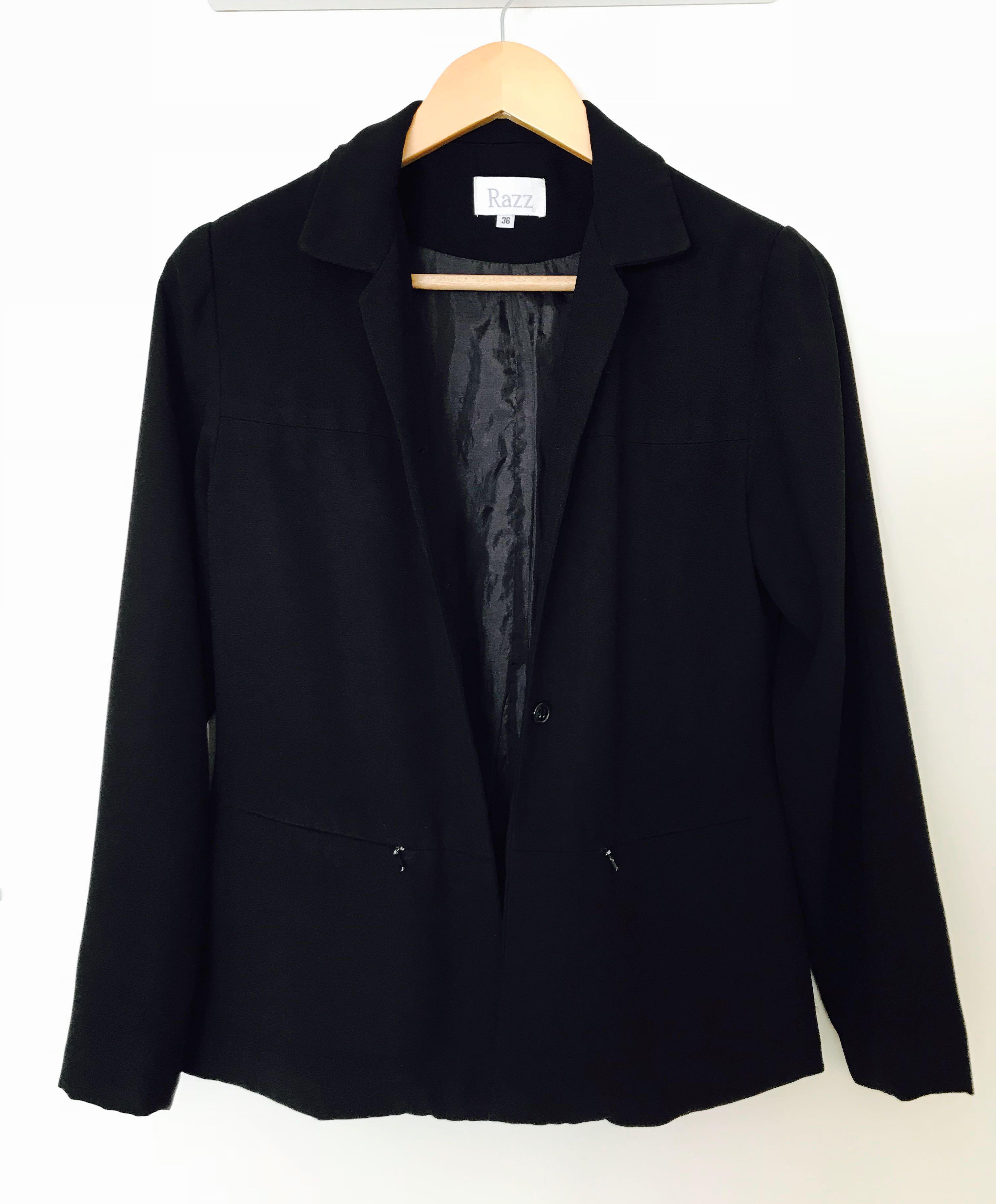 Black women's blazer / coat / jacket