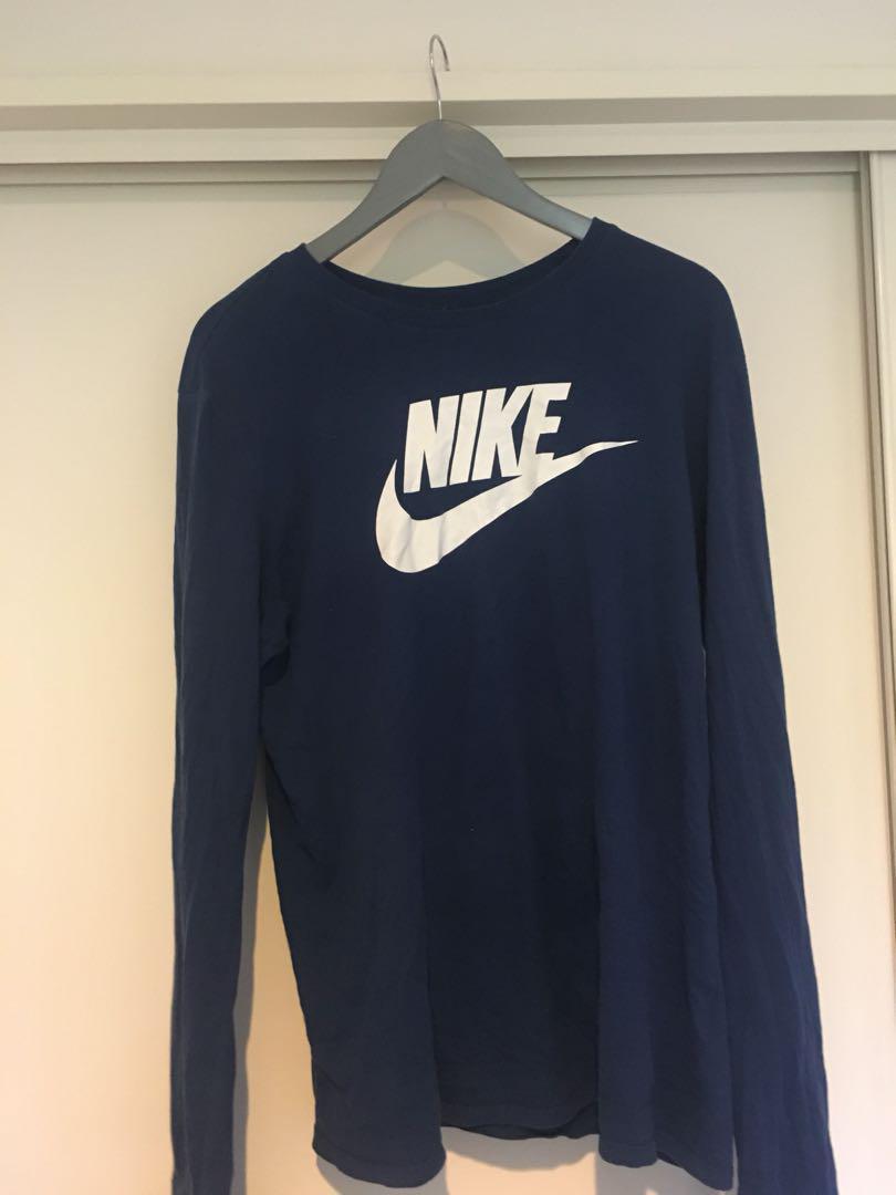 Blue Nike long sleve
