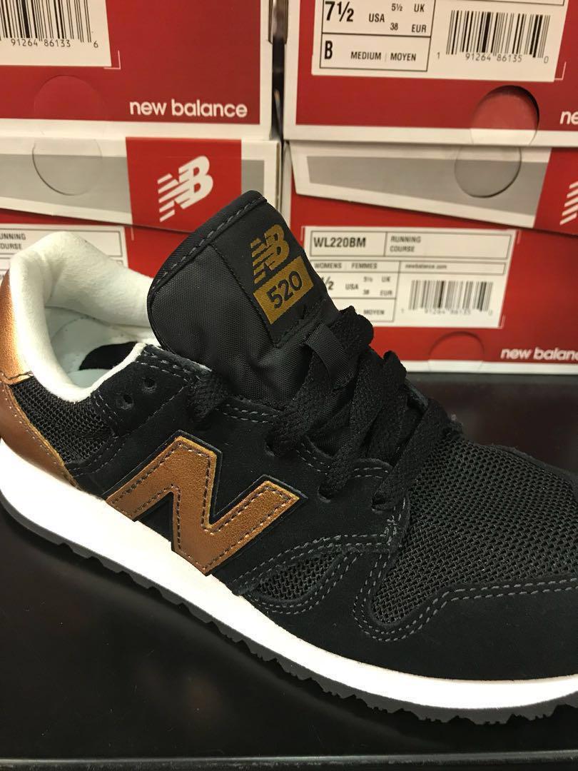 BNIB] New balance 520 (black/gold