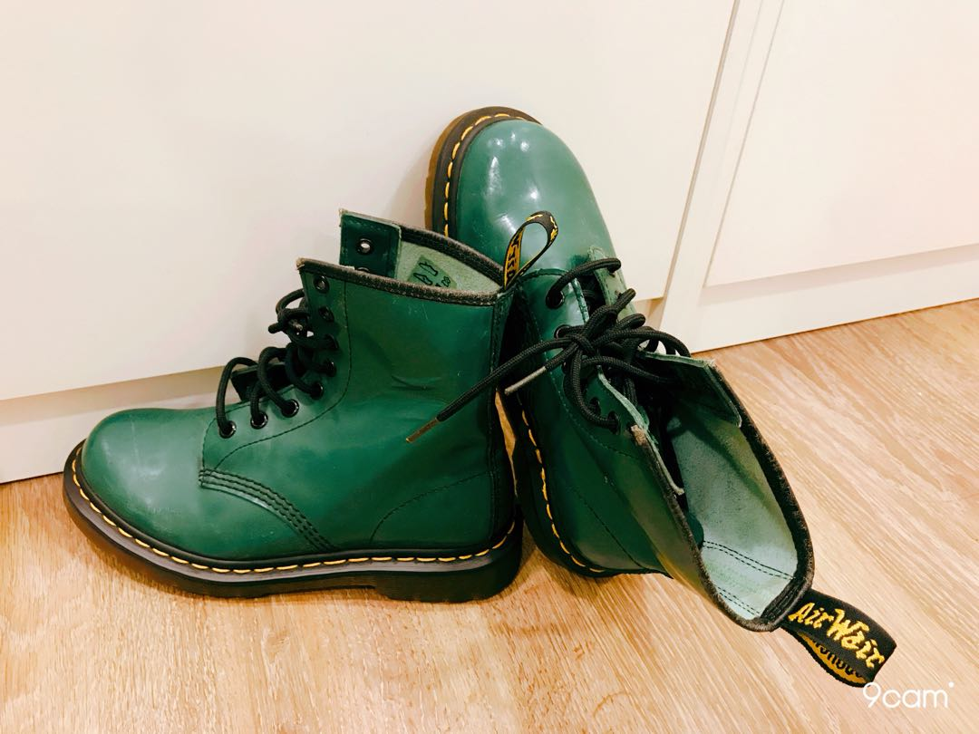 Dr Martens - Ladies Green boots b531ccaf3140