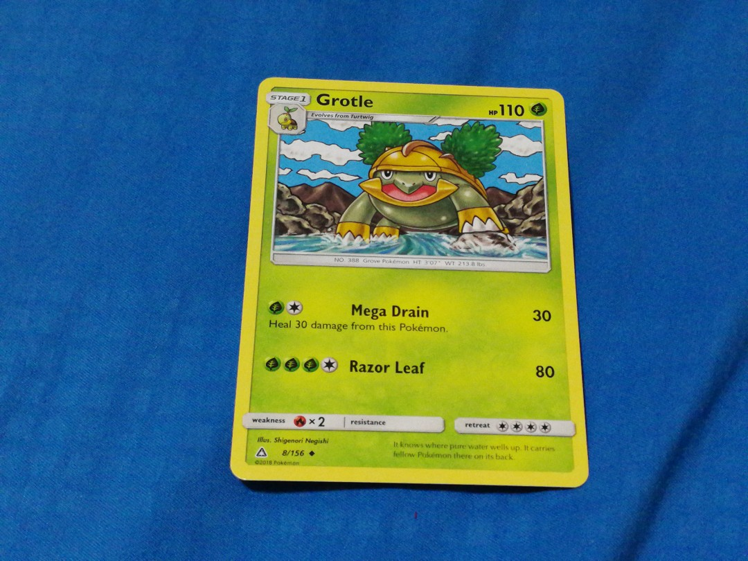 Grotle Pokemon Tcg Card Game Ultra Prism Toys Games Board Games