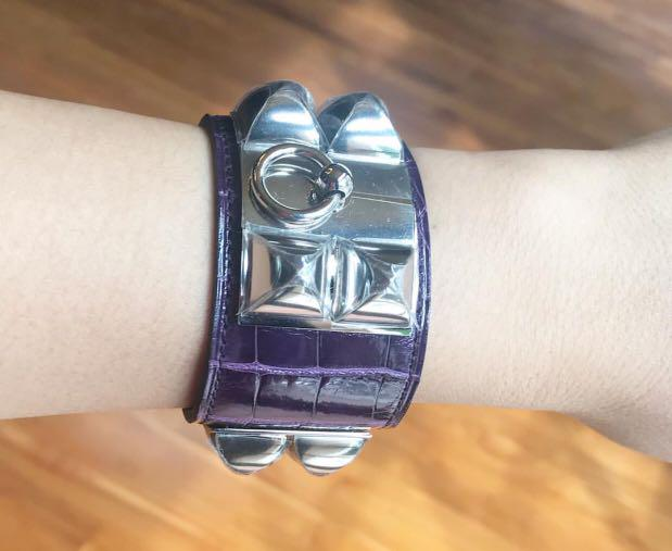 Hermes CDC Croco Purple