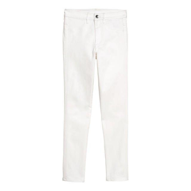 H&M White Skinny Ankle Jeans