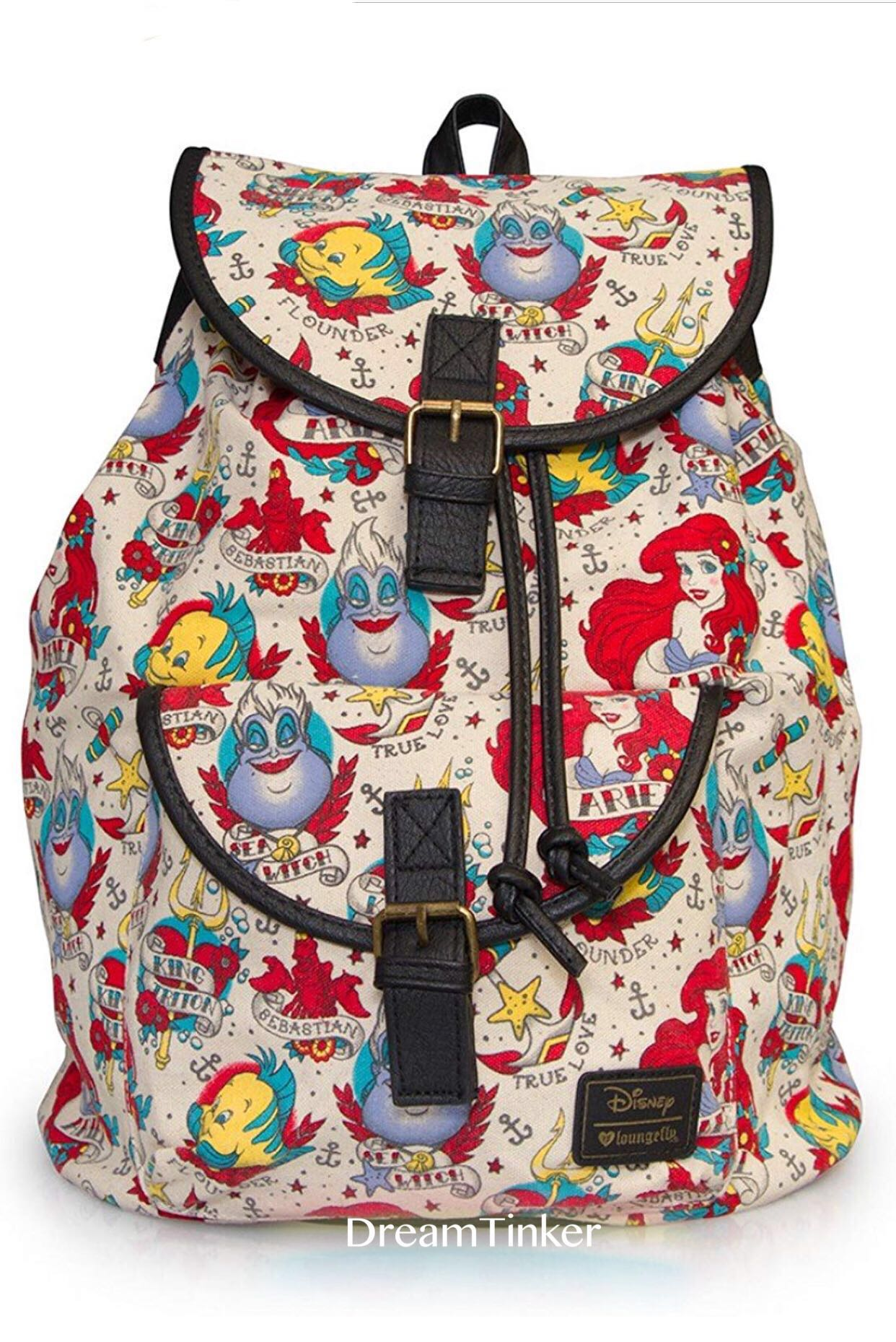 Loungefly x Disney Ariel The Little Mermaid Tattoo backpack