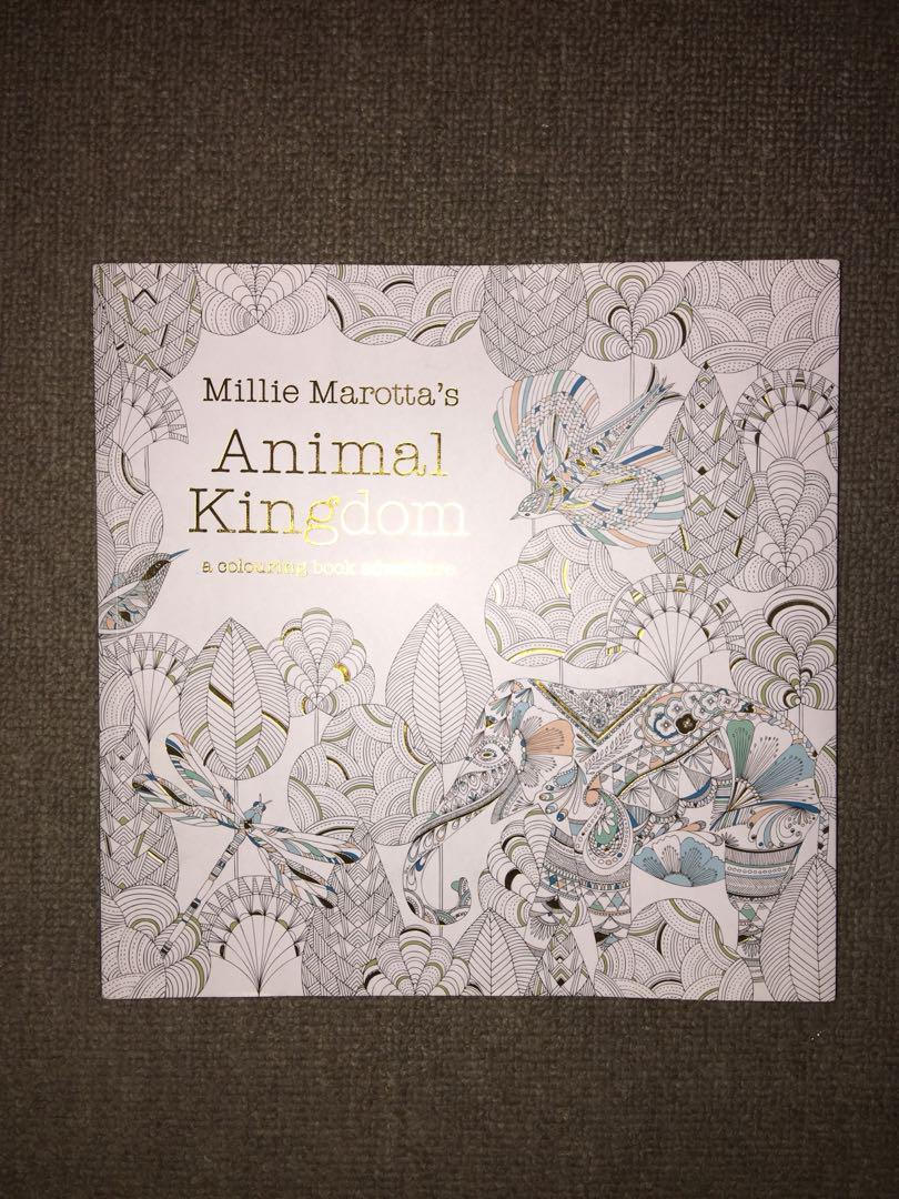 English Edition Animal Kingdom Coloring Book For Children Adult ... | 1080x810