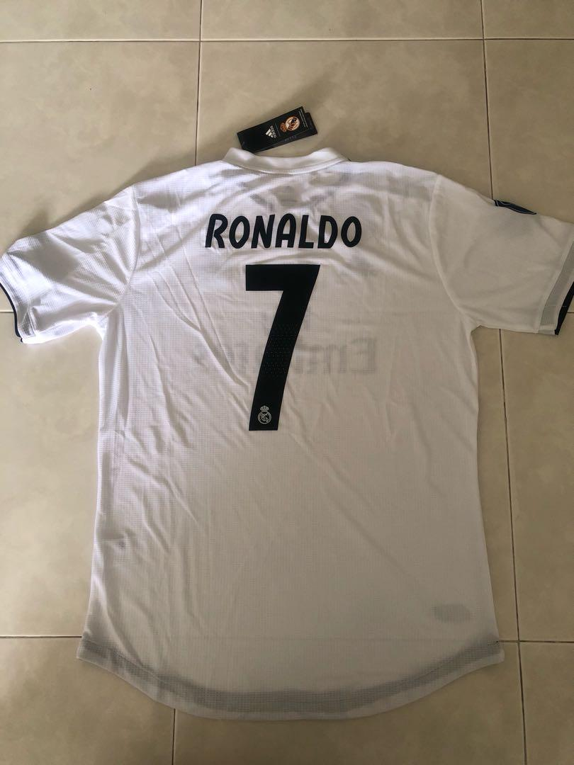sale retailer d7a96 46e26 New 18/19 Season Real Madrid Home Kit Jersey Player Version ...