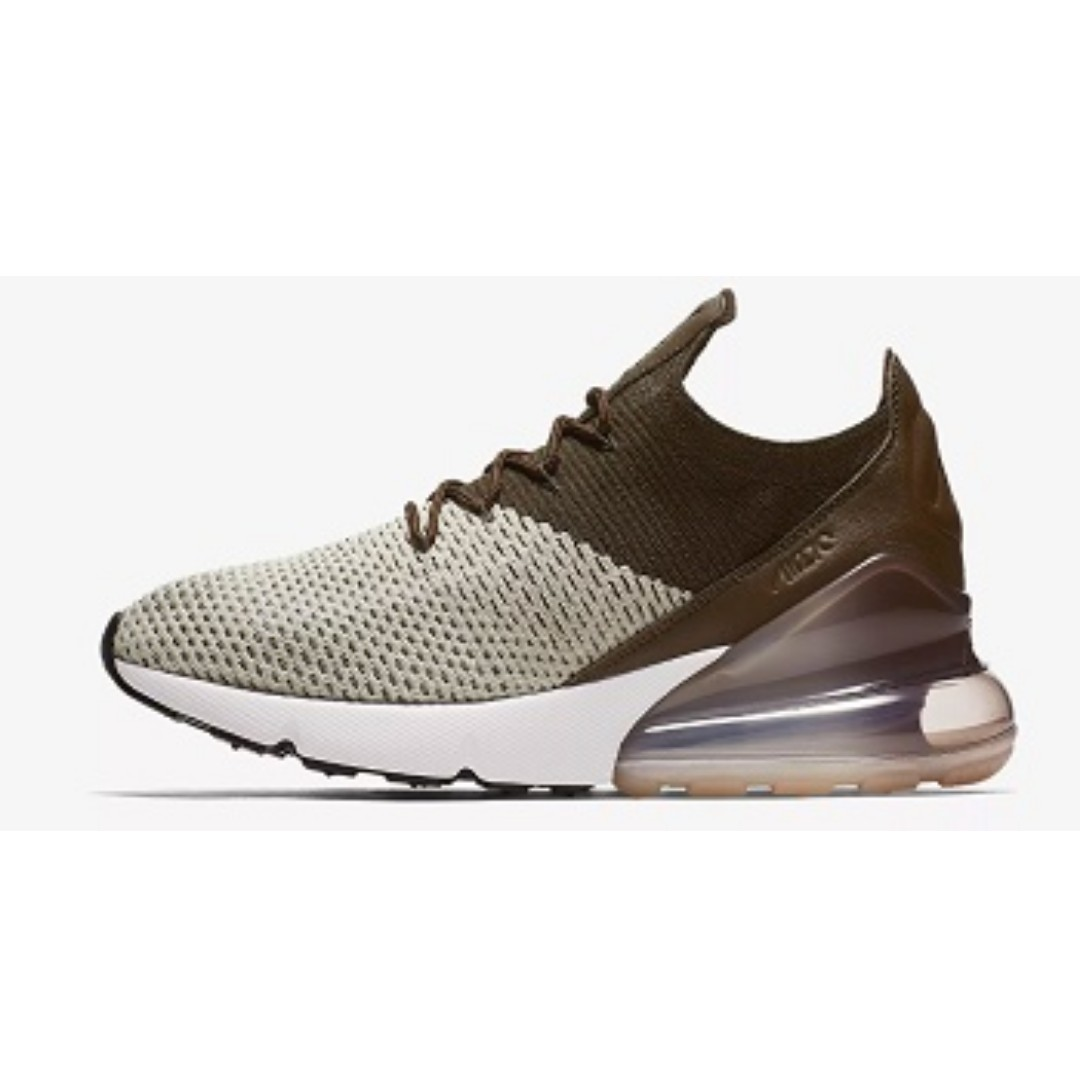 01e086eaa2b6 Nike Air Max 270 Flyknit (Light Bone Dark Hazel)