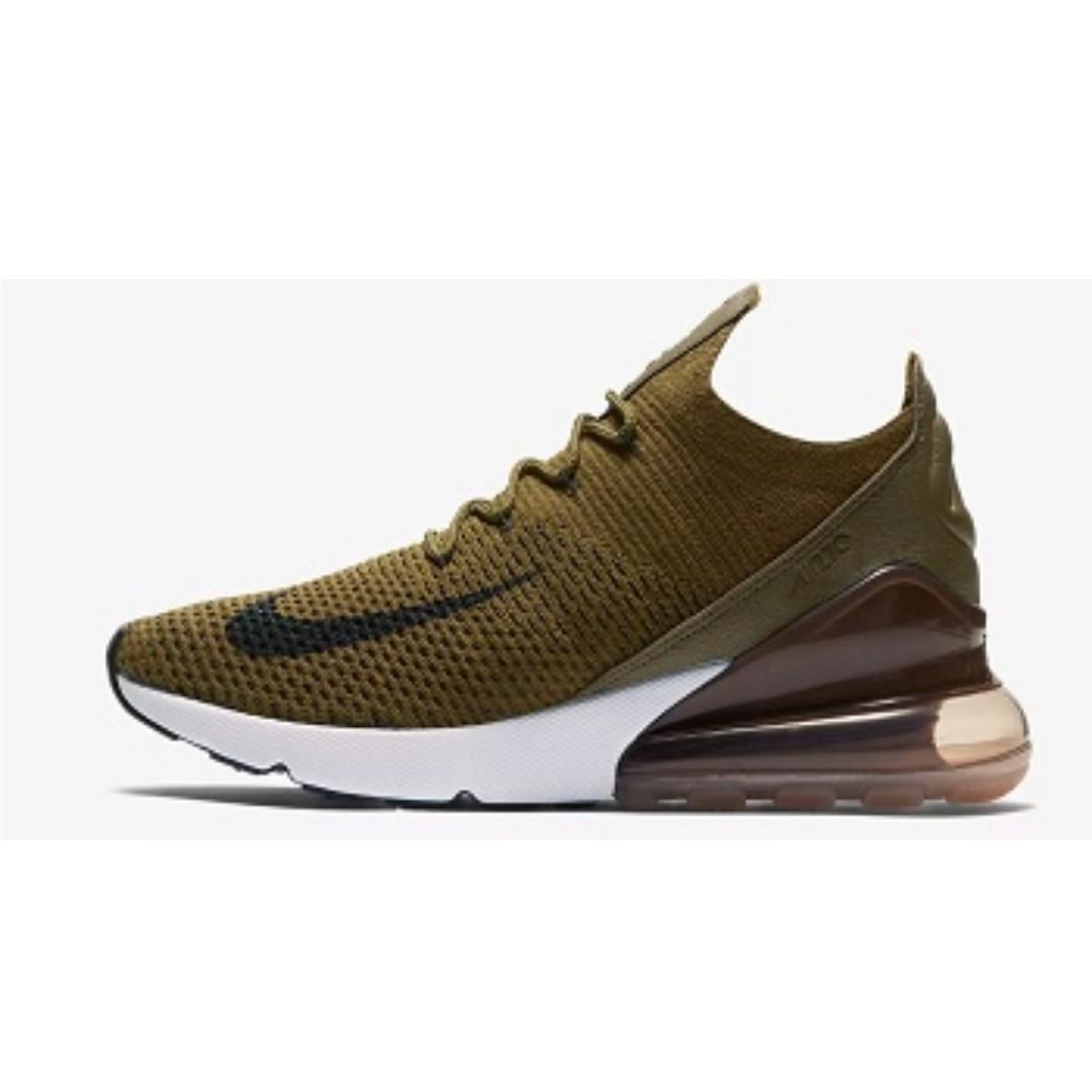 sale retailer 1f0e5 1aecf Nike Air Max 270 Flyknit (Olive FlakSepia Stone), Mens Fashi