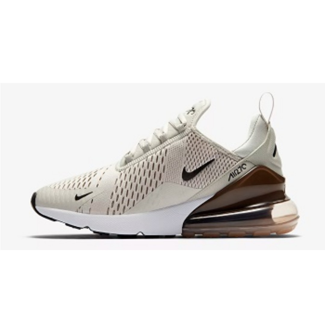 Nike Air Max 270 (Light BoneSepia Stone), Men's Fashion