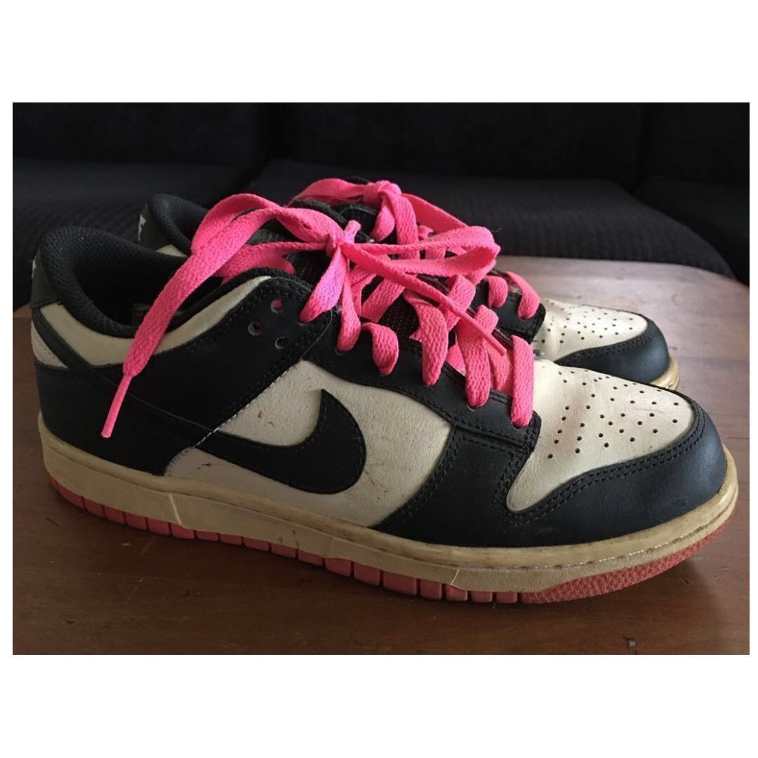 Nike Sneakers with Hot Pink Laces +