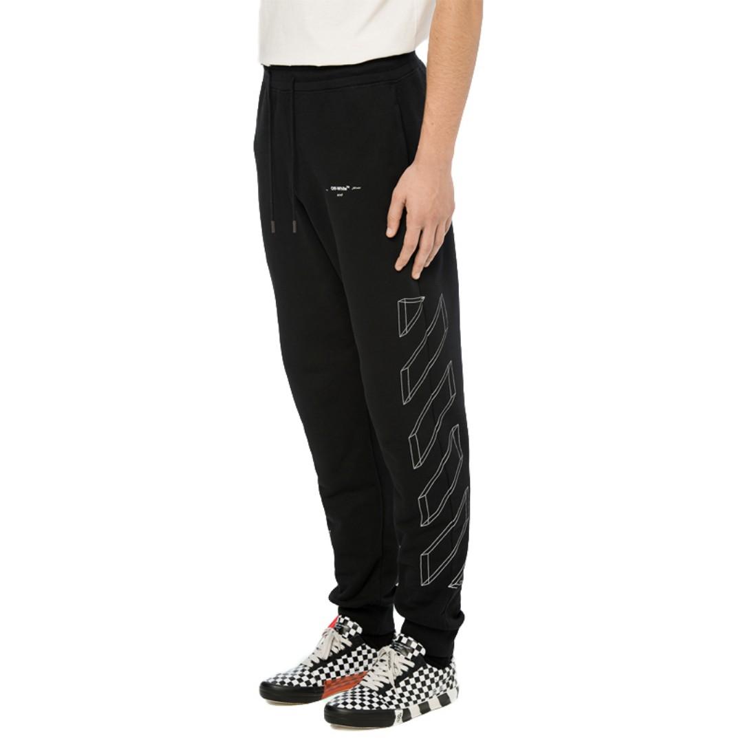 08e5e364a6f1 Off White 18FW 3D Line Sweat Pants