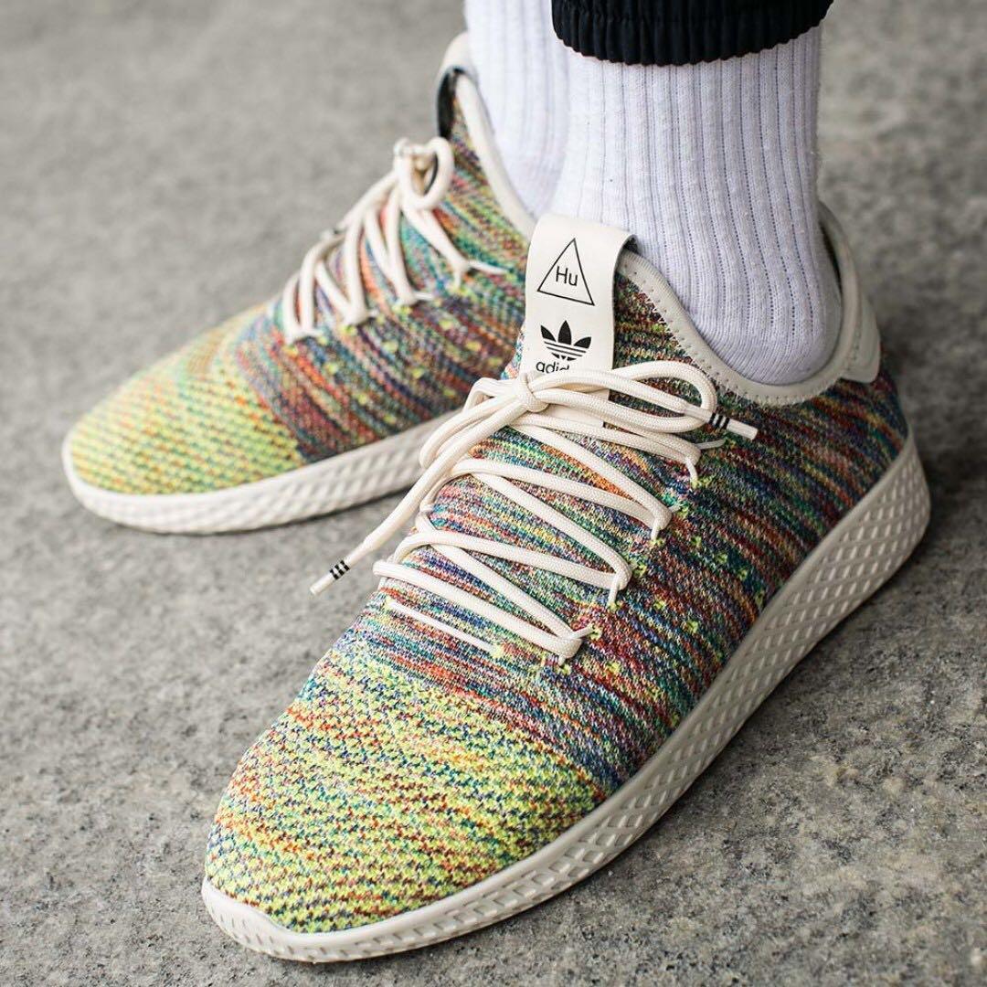 top fashion authorized site look for PO) Pharrell Williams x Adidas Mens PK Tennis HU Multicolor ...