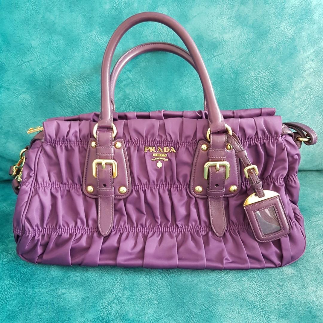 435301cd631c wholesale prada tessuto gaufre bag nylon 1ba407 ciclamino purple luxury  bags wallets handbags on carousell 28640