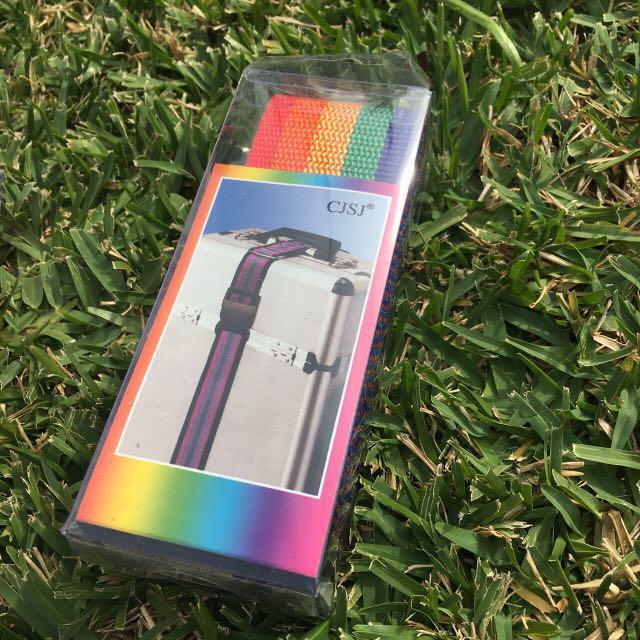 Rainbow Luggage Straps