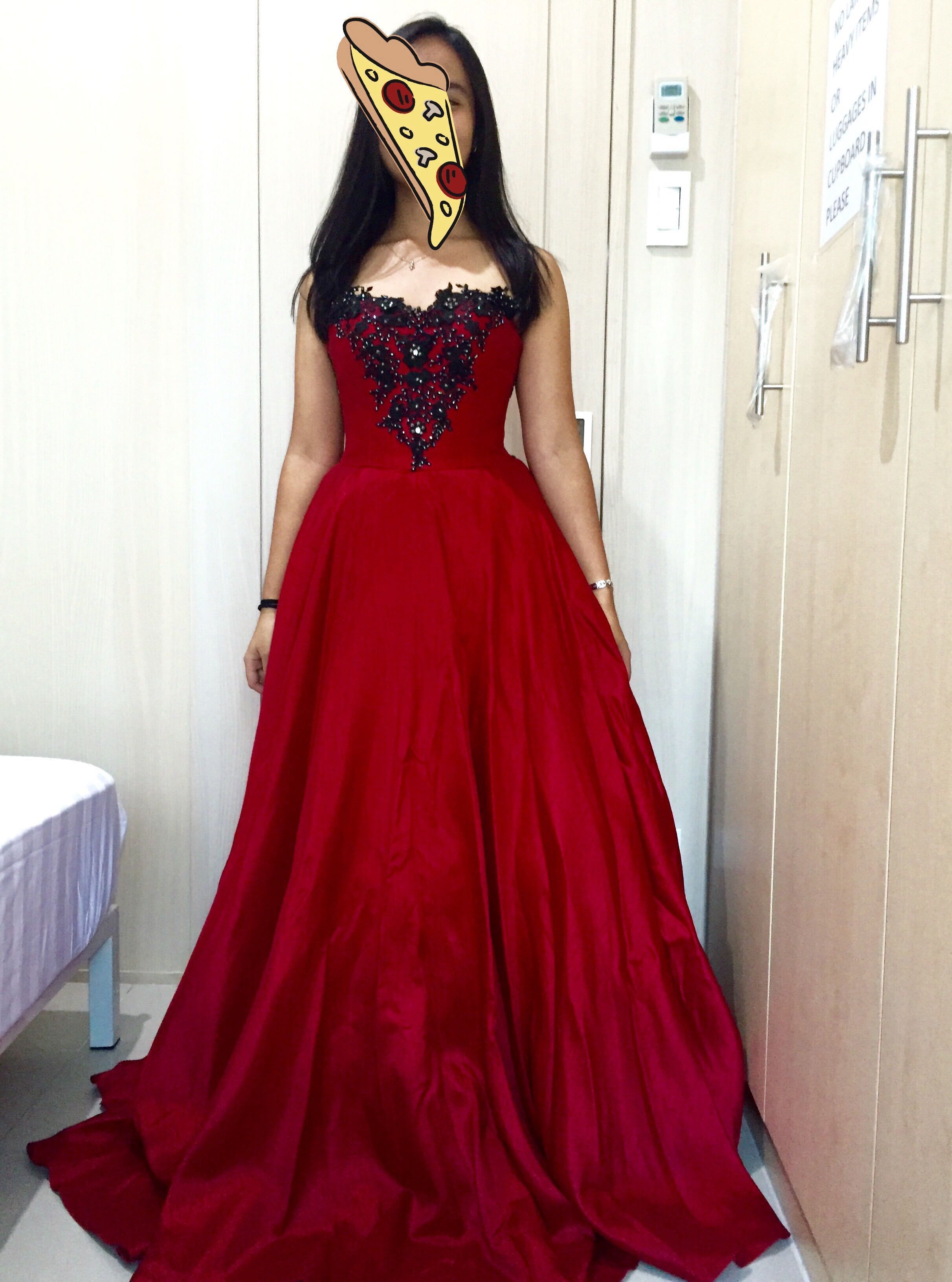 REPRICED: Red & Black Ball Gown for Prom/Debut/Parties!, Women\'s ...