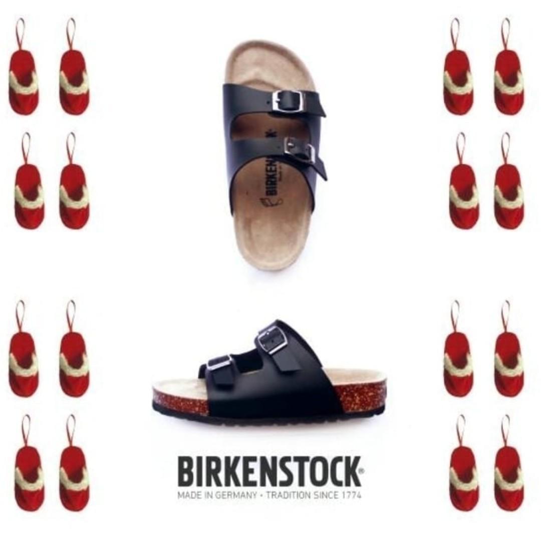 Sandal Birkenstock Anak tanggung Gesper 2 Hitam (Arizona).