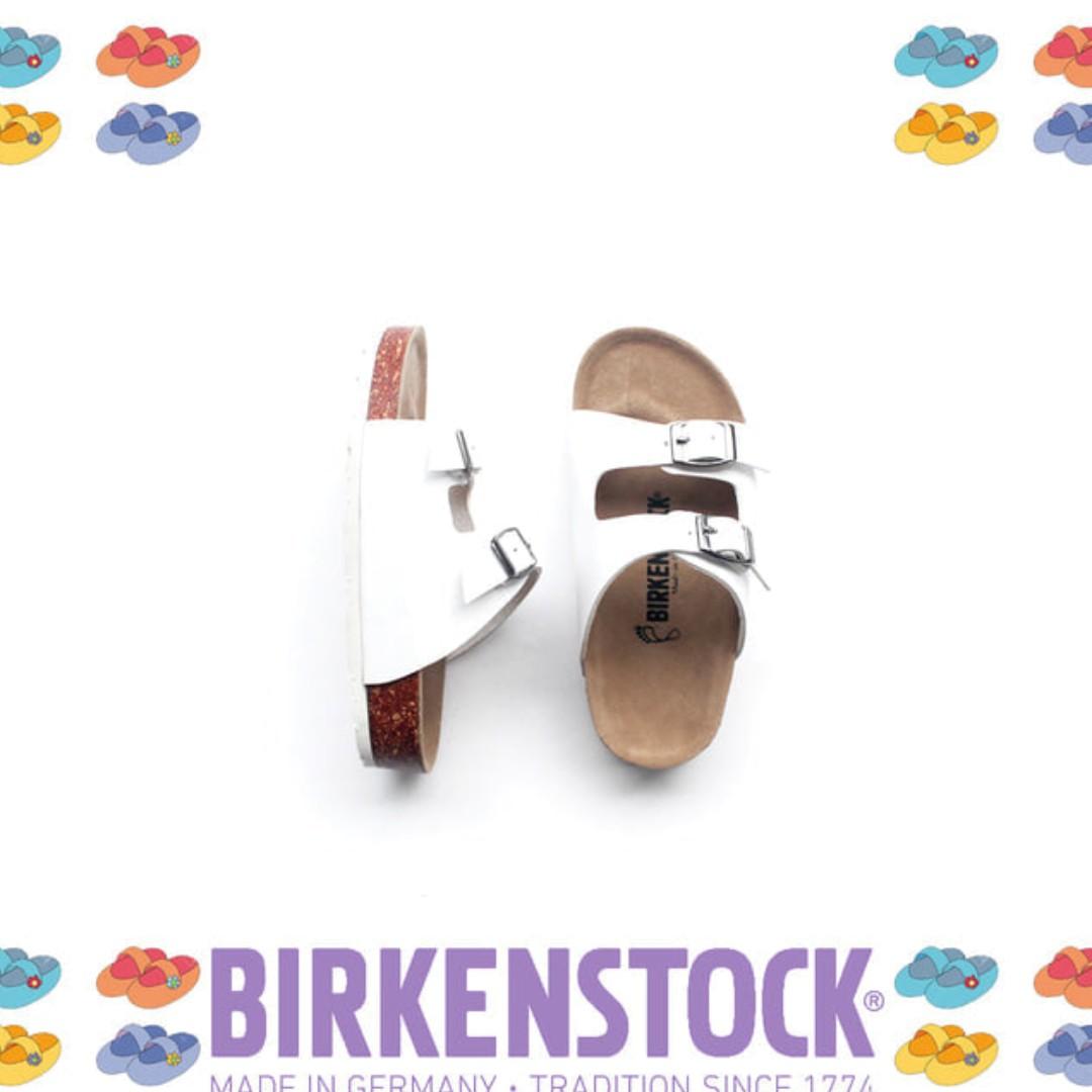 Sandal Birkenstock Anak tanggung Gesper 2 Putih (Arizona).