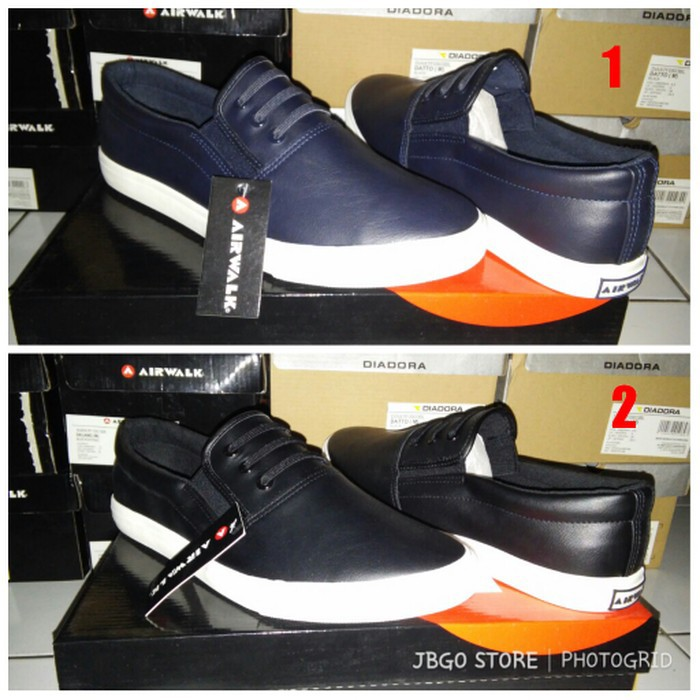 Sepatu Original Airwalk Slip On Delano(M) Navy dan Black ee527f9cbc