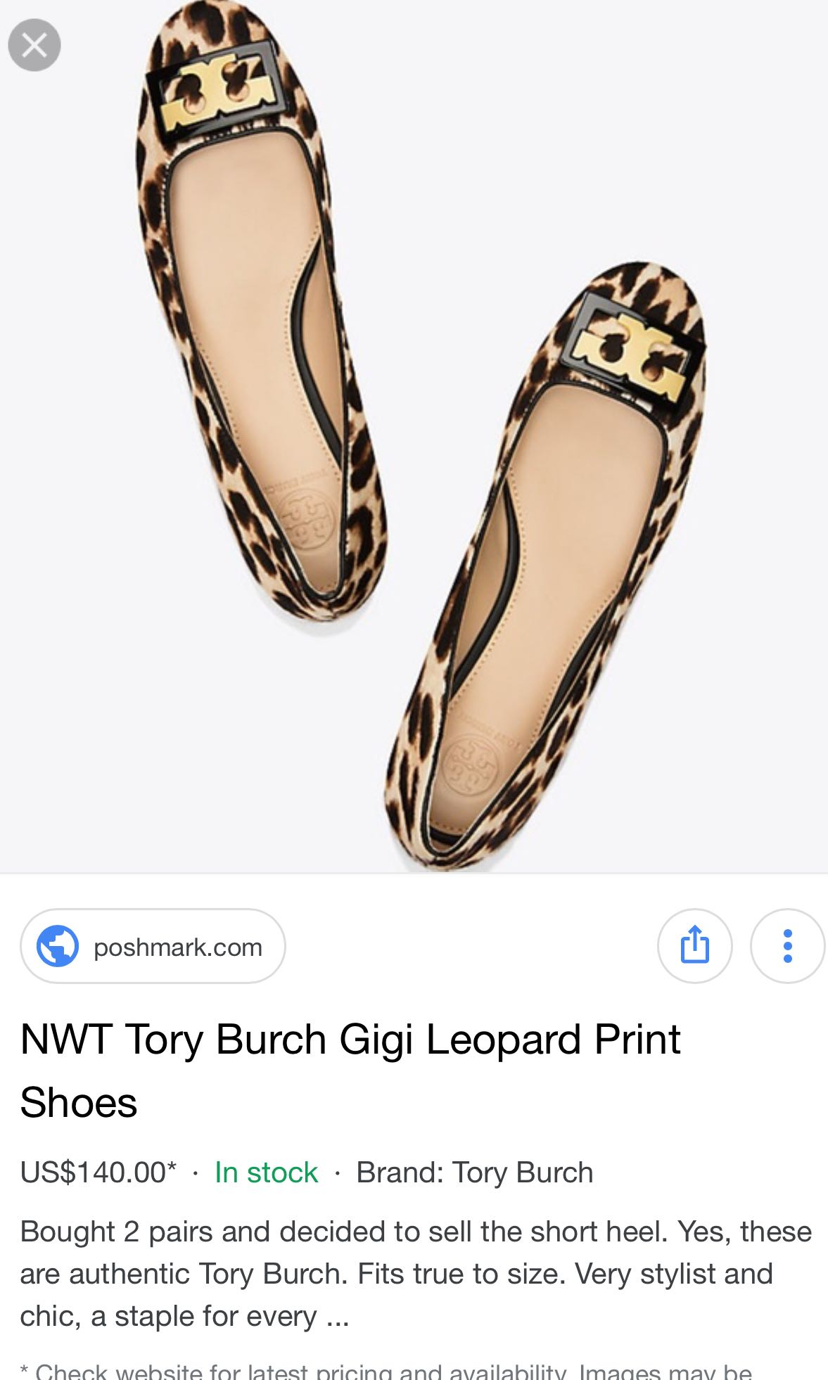 48ba73287068 Tory Bruch Gigi in leopard print (Calf hair), Luxury, Shoes on Carousell