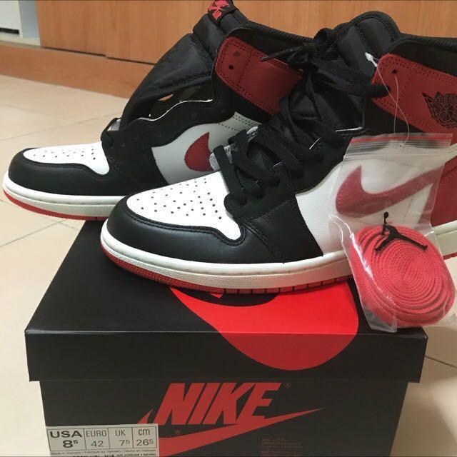 985385a3cb6 WTT / WTS Air Jordan 1 track red , Men's Fashion, Footwear, Sneakers on  Carousell