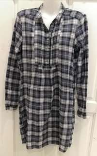 M Checked Dress