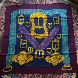 Hermes vintage Silk Scarf purple 紫色愛馬仕絲巾 罕有
