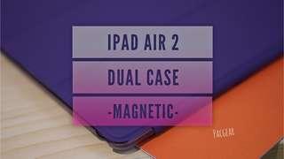 iPad Air 2 Dual Case Magnetic Purple