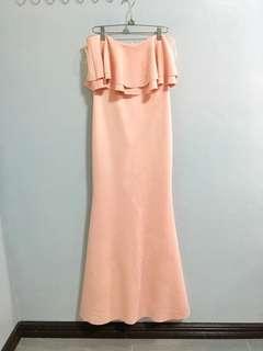 Pastel Pink Long gown/dress (Karimadon)