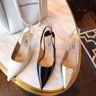 Prad@ Slingbacks Kitten heels