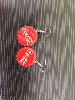 可樂蓋造型耳環