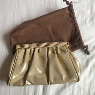 Party Bag SM What A Girl Wants WAGW brand in Gold excellent condition