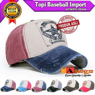 TOPI BASEBALL IMPORT AUTHENTIC DESIGN