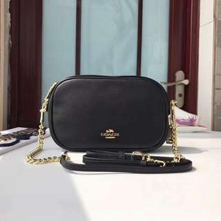C0ACH ISLA CHAIN CROSSBODY P3200  WITH CARD, DUSTBAG AND PAPERBAG