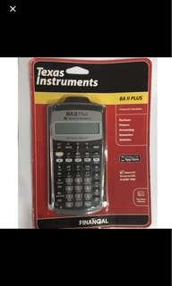 BA II Plus financial calculator texas