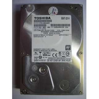 🚚 TOSHIBA【影音監控專用】3TB 硬碟 ( DT01ABA300V ) 32M快取、5940轉、DVR主機拆機良品