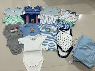 (0-6M) Baby Clothings In Bundle