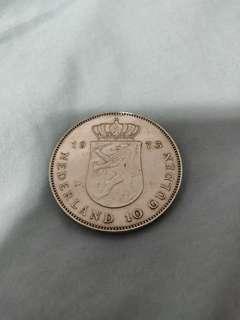 10蚊 荷蘭頓  古外幣