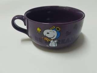 🚚 紫色史努比 杯碗