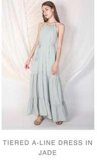 Klarra Tiered A-Line Dress
