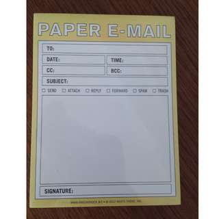 Paper E-mail note pad