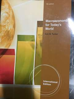 Macroeconomics for Today's World by Irvin B. Tucker