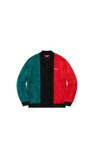 supreme velour zip up