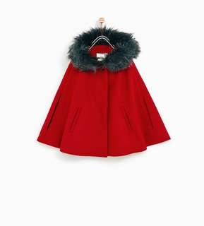 Zara Girls Cape with Hood